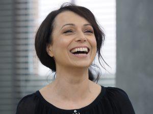 """Fot. Justyna Rojek/East News. 13.11.2015 Warszawa. Na planie programu telewizyjnego """"Dzien Dobry TVN"""". N/z Katarzyna Pakosinska"""